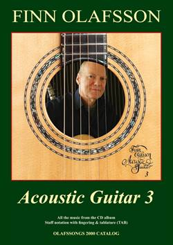 Finn Olafsson:<BR>\'Acoustic Guitar 3\' - Guitar TAB music book