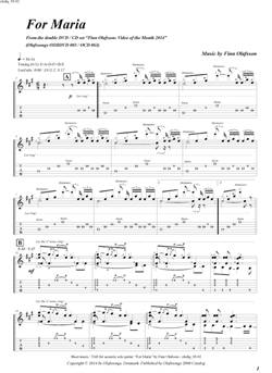 &quot;For Maria&quot; by Finn Olafsson<BR>Album: &quot;Video of the Month 2014&quot;<BR>PDF sheet music / TAB for download<BR>Guitar tuning: E-A-D-F#-B-E